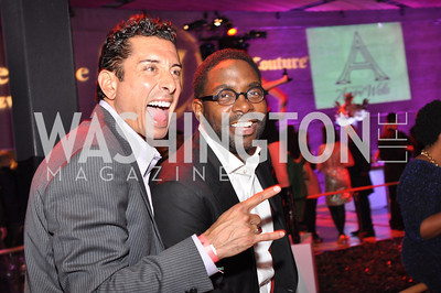 Davide DePas and Andre Wells, The Annual Young and the Guest List party hosted by Washington Life Magazine.  Arena Stage, Monday, December 17, 2012 .  Events by Andre Wells, Photo by Ben Droz.