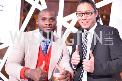 Brandon Hill, Peter Chang,  The Annual Young and the Guest List party hosted by Washington Life Magazine.  Arena Stage, Monday, December 17, 2012 .  Events by Andre Wells, Photo by Ben Droz.