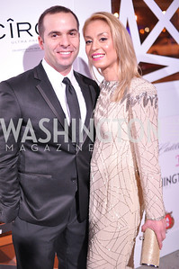 Violetta Markelou and Husband,  The Annual Young and the Guest List party hosted by Washington Life Magazine.  Arena Stage, Monday, December 17, 2012 .  Events by Andre Wells, Photo by Ben Droz.