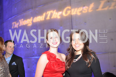Morgan Gress, Lauren Pratapas, The Annual Young and the Guest List party hosted by Washington Life Magazine.  Arena Stage, Monday, December 17, 2012 .  Events by Andre Wells, Photo by Ben Droz.