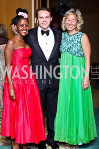 Holly Bass, Elvis Stumbergs, Philippa Hughes. Photo by Tony Powell. theatreWashington Star Gala & Benefit Auction. Four Seasons. October 26, 2012