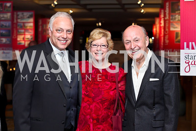 Mark and Merrill Shugoll, Victor Shargai. Photo by Tony Powell. theatreWashington Star Gala & Benefit Auction. Four Seasons. October 26, 2012
