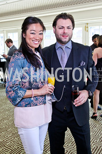 Pamela Sorensen, Jason Kampf. McLaughlin Brunch. Photo by Tony Powell. Hay Adams. April 29, 2012