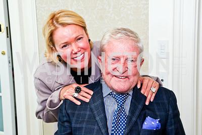 Rhonda Wilkins and former Amb. Howard Wilkins. McLaughlin Brunch. Photo by Tony Powell. Hay Adams. April 29, 2012