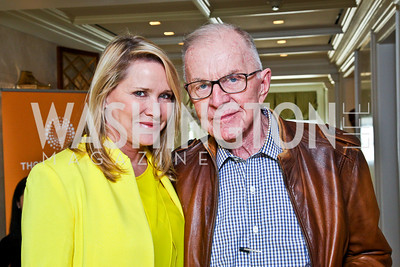 Patricia Duff, John McLaughlin. McLaughlin Brunch. Photo by Tony Powell. Hay Adams. April 29, 2012