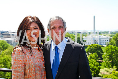 Julie Chen and CBS President and CEO Les Moonves. McLaughlin Brunch. Photo by Tony Powell. Hay Adams. April 29, 2012