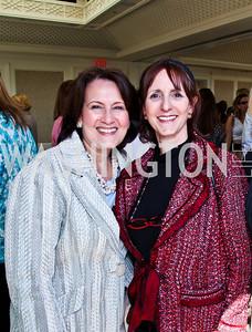 Anita McBride, Annie Groer. McLaughlin Brunch. Photo by Tony Powell. Hay Adams. April 29, 2012