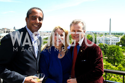 David Mercer, Rita Cosby and Tomaczek Bednarek. McLaughlin Brunch. Photo by Tony Powell. Hay Adams. April 29, 2012