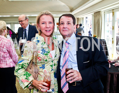 Elizabeth Baker Keffer, Bob Rose. McLaughlin Brunch. Photo by Tony Powell. Hay Adams. April 29, 2012