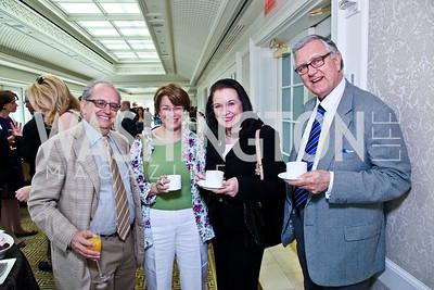 Norm Ornstein, Sen. Amy Klobuchar, Harriet and Larry Pressler. McLaughlin Brunch. Photo by Tony Powell. Hay Adams. April 29, 2012