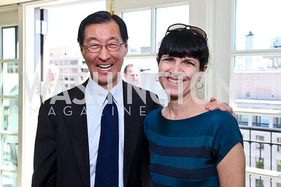 Ed Chen, Time Europe Editor Catherine Mayer. McLaughlin Brunch. Photo by Tony Powell. Hay Adams. April 29, 2012