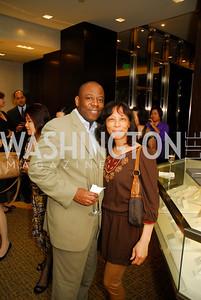 Billy Newsom,Elaine Williams,March 22,2012,Tiffany and Co. Rubedo Reception,Kyle Samperton