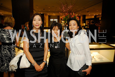 Gak Qyung Chang,Sue Sullivan,June Kil,March 22,2012,Tiffany and Co. Rubedo Reception,Kyle Samperton