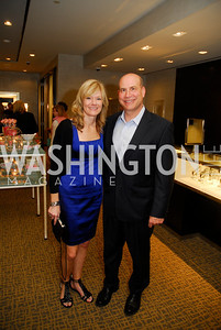 Kathy Johnson,Joe Linza,March 22,2012,Tiffany and Co. Rubedo Reception,Kyle Samperton