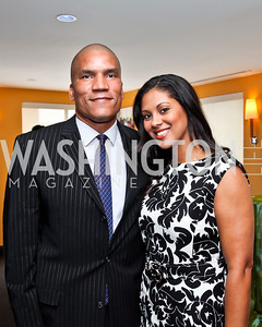 Paxton and Rachel Baker. Tiger Woods Luncheon. Photo by Tony Powell. Cafe Milano. May 21, 2012