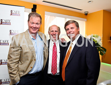 John Boland, Chris and David Petersen. Tiger Woods Luncheon. Photo by Tony Powell. Cafe Milano. May 21, 2012
