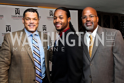 Eric Weaver, Travis Haysbert and John Haysbert. Tiger Woods Luncheon. Photo by Tony Powell. Cafe Milano. May 21, 2012