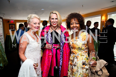Carole Margaret Randolph, Barbara McConaghy Johnson, Gina Adams. Tiger Woods Luncheon. Photo by Tony Powell. Cafe Milano. May 21, 2012
