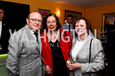 Franco Nuschese, Ann Jordan, Elizabeth Stevens. Tiger Woods Luncheon. Photo by Tony Powell. Cafe Milano. May 21, 2012