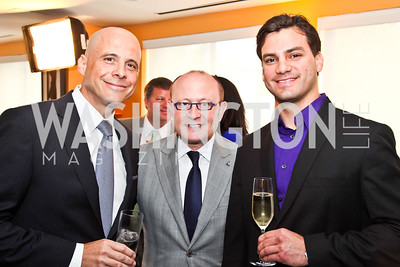 Christian Clerc, Franco Nuschese, Paul Medina. Tiger Woods Luncheon. Photo by Tony Powell. Cafe Milano. May 21, 2012