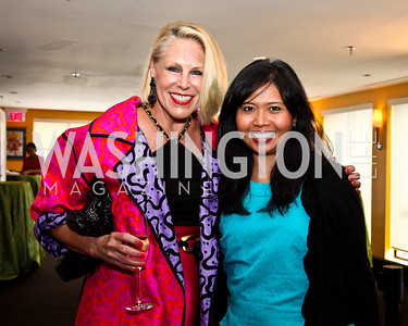 Barbara McConaghy Johnson, Giardy Ritz. Tiger Woods Luncheon. Photo by Tony Powell. Cafe Milano. May 21, 2012
