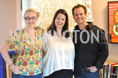 Kate Damon, Victoria Reis, James Alefantis.  Transformer Gallery holds a Collector's View at the home of Thom Haller and Bill Wallace.