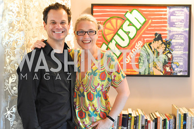 James Alefantis, Kate Damon. Transformer Gallery holds a Collector's View at the home of Thom Haller and Bill Wallace.