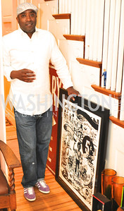 Artist Billy Colbert.  Transformer Gallery holds a Collector's View at the home of Thom Haller and Bill Wallace.