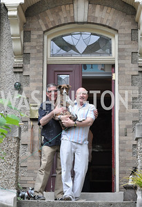 Bill Wallace and Thom Haller. Transformer Gallery holds a Collector's View at the home of Thom Haller and Bill Wallace.