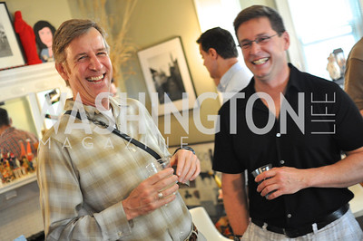 Mark Ewert, Mike Holland.  Transformer Gallery holds a Collector's View at the home of Thom Haller and Bill Wallace.