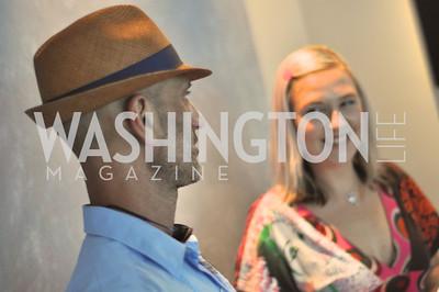 David Cohen, Kate Damon.  Transformer : Collector's View at the home of Robert Shapiro.  Sunday, May 20, 2012.  Photo by Ben Droz
