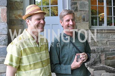 Steven Stichter, Mark Ewert, Transformer : Collector's View at the home of Robert Shapiro.  Sunday, May 20, 2012.  Photo by Ben Droz