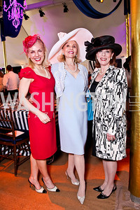 Lisa Beek, Evelyn Brandt, Patricia Sagon. Trust for the National Mall 5th Anniversary Benefit Luncheon. Photo by Tony Powell. May 3, 2012