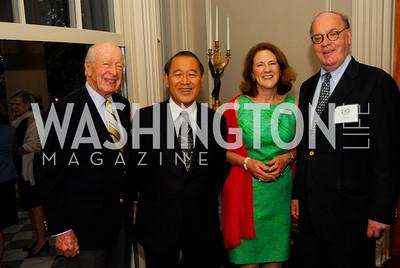 Austin Kiplinger, Amb.Ichiro Fujisaki,Leslie Buhler,Tim Matz,,May 23,2012,Tudor  Place Garden Party,Kyle Samperton