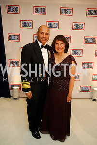 Vice Admiral Manson Brown,Hermina Brown,November 2,2012,USO Gala,Kyle Samperton