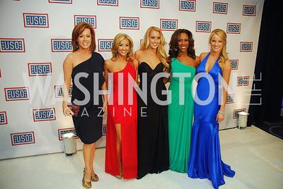 Kelli FinglassSydney Durso,Cassie Trammell,Jackie Bob,Whitney Islieb,November 2,2012,USO Gala,Kyle Samperton