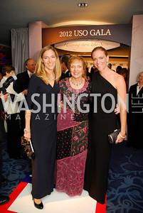 Nicole Llitle,Mary Jo Myers,Erin Voto,November 2,2012,USO Gala,Kyle Samperton