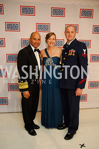 Vice Admiral Manson Brown,April Beane,Nicholas Beane,November 2,2012,USO Gala,Kyle Samperton