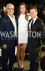 Dr. Aymen Hakki, Kate Michael, Douglas Sonders,  Walk This Way Fashion Charity Event, Kastles Stadium at the Wharf, Photo by Ben Droz.