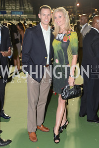 Mike Kloosterman, Kristen Berset,  Walk This Way Fashion Charity Event, Kastles Stadium at the Wharf, Photo by Ben Droz.