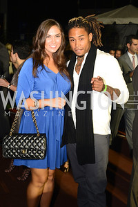 Dwight Dillard, Cassandra Pataky,  Walk This Way Fashion Charity Event, Kastles Stadium at the Wharf, Photo by Ben Droz.
