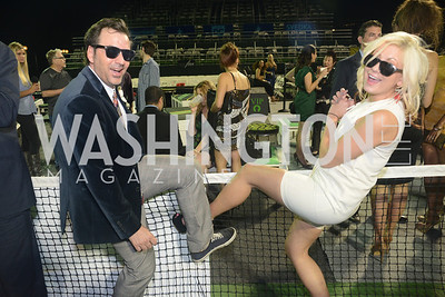 Michael Clements, Sherry Martellaro, Walk This Way Fashion Charity Event, Kastles Stadium at the Wharf, Photo by Ben Droz.
