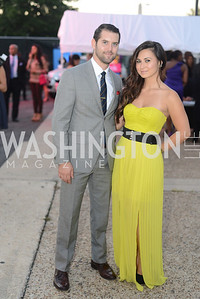 Nick Montes, Krystle Sims, Walk This Way Fashion Charity Event, Kastles Stadium at the Wharf, Photo by Ben Droz.
