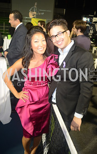 Becky Lee, John Paul Hamilton, Walk This Way Fashion Charity Event, Kastles Stadium at the Wharf, Photo by Ben Droz.