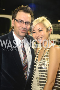 Michael Clements, Anchyi Wei, Walk This Way Fashion Charity Event, Kastles Stadium at the Wharf, Photo by Ben Droz.