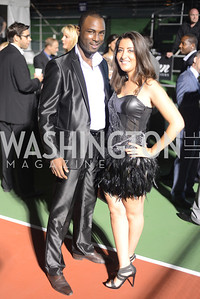 Myriam Cheniti, Mountaga Keita, Walk This Way Fashion Charity Event, Kastles Stadium at the Wharf, Photo by Ben Droz.