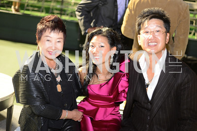 Rebecca Lee, Becky Lee, James Kang, Walk This Way Fashion Charity Event, Kastles Stadium at the Wharf, Photo by Ben Droz.