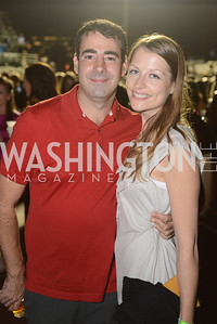 Paul Leverrier, Laurel Leverrier, Walk This Way Fashion Charity Event, Kastles Stadium at the Wharf, Photo by Ben Droz.