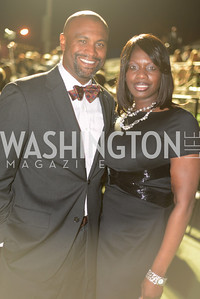 Jason Turner, Caryn Bailey,  Walk This Way Fashion Charity Event, Kastles Stadium at the Wharf, Photo by Ben Droz.