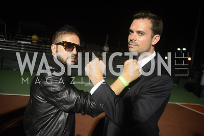 Samy K, Leo Schmid,  Walk This Way Fashion Charity Event, Kastles Stadium at the Wharf, Photo by Ben Droz.